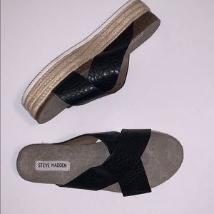 Steve Madden Hassie Espadrille Platform Sandal 10